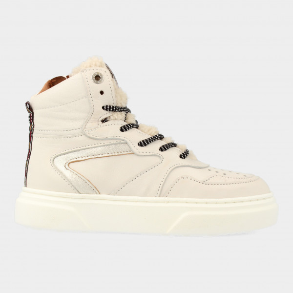 Hoge Off White Sneakers   Red-Rag 13144