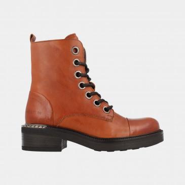 Cognac Biker Boots   Red-Rag 71150