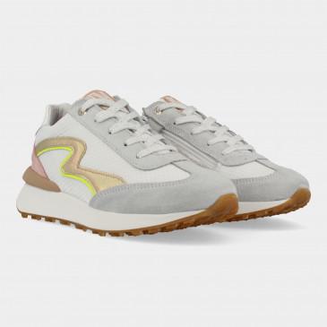 Witte Sneakers Met Rits | Red-Rag 13038