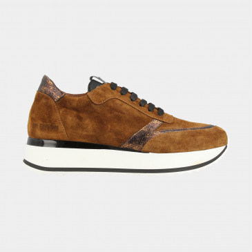 Cognac Sneakers | Red-Rag 76808