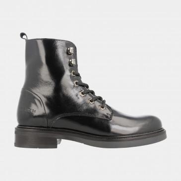Zwarte Lak Biker Boots | Red-Rag 71168