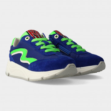 Blauwe Sneakers Met Rits | Red-Rag 13059