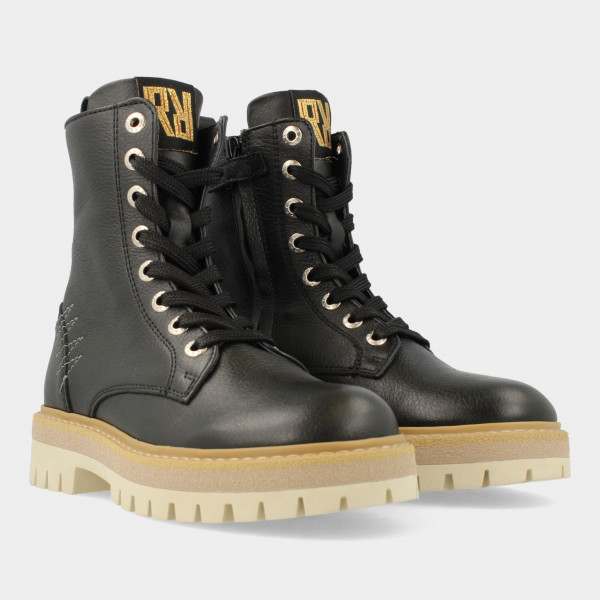 Zwarte Veter Boots   Red-Rag 12318