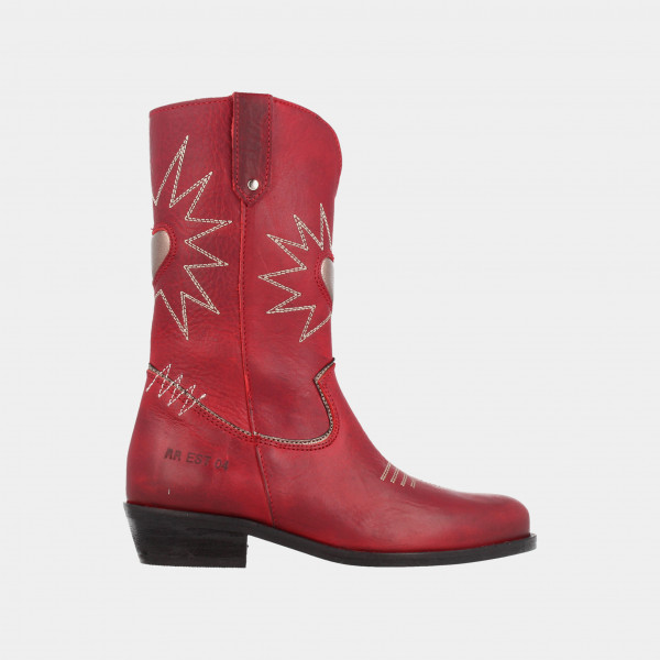 Rode Cowboy Laarzen | Red-Rag 12200