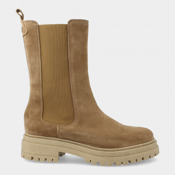 Hoge Taupe Chelsea Boots   Red-Rag 71128