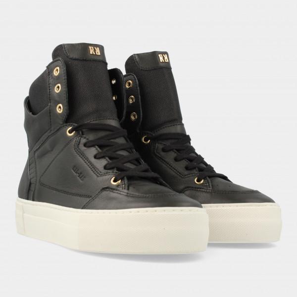 Hoge Zwarte Sneakers   Red-Rag 74466