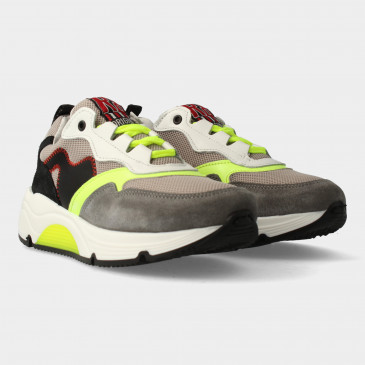 Grijs Gele Sneakers | Red-Rag 13089