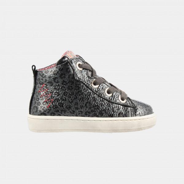 Hoge Grijze Sneakers Leopard | Red-Rag 11010