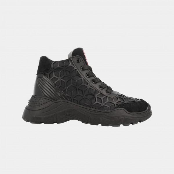 Hoge Zwarte Sneakers | Red-Rag 13225