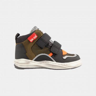 Hoge Groene Zwarte Sneakers | Red-Rag 13149