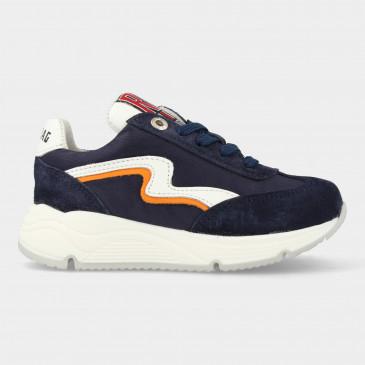 Donker Blauwe Sneakers Met Rits | Red-Rag 13059