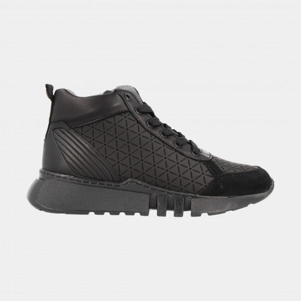 Hoge Zwarte Sneaker | Red-Rag 13235