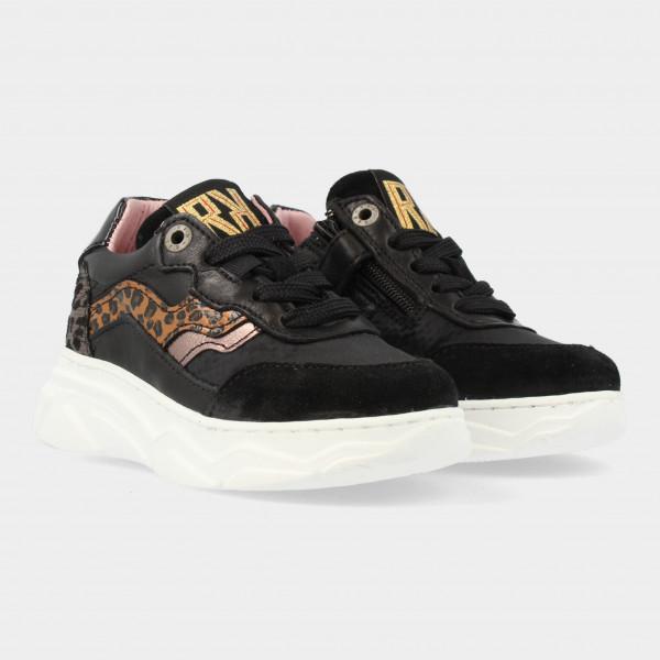 Zwarte Sneakers Met Print | Red-Rag 13130