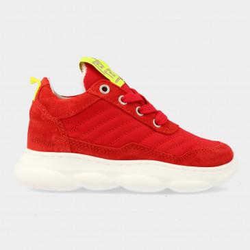 Rode Sneakers Met Rits | Red-Rag 13063