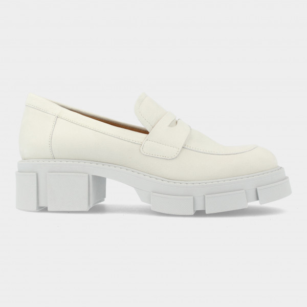 Off White Chunky Loafer | Red-Rag 78138