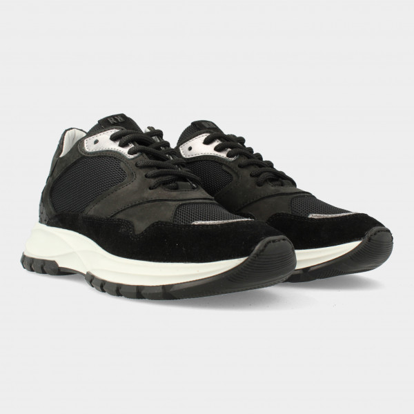Zwarte Sneakers   Red-Rag 76858