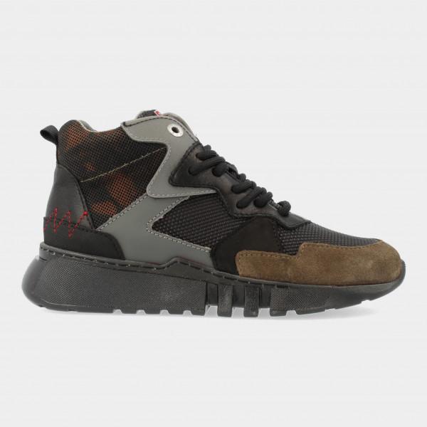 Hoge Groene Sneakers | Red-Rag 13529