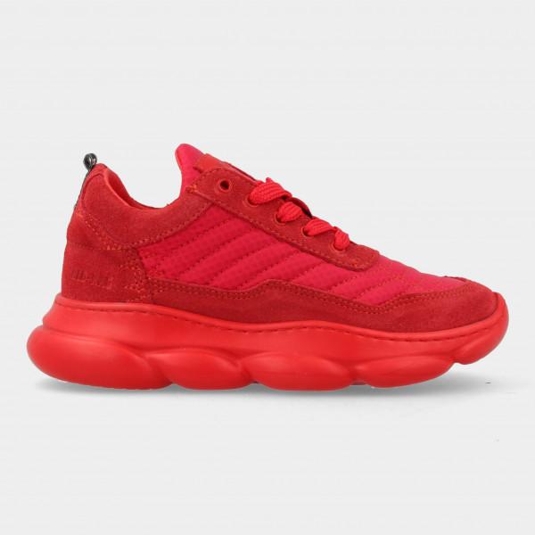 Rode Sneakers Met Rits   Red-Rag 13483
