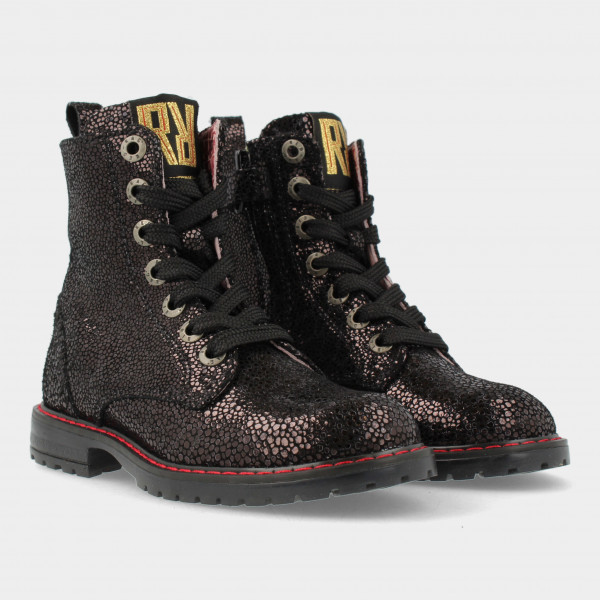 Zwarte Biker Boots   Red-Rag 12272