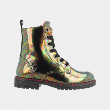 Zwarte Holographic Boots | Red-Rag 12084